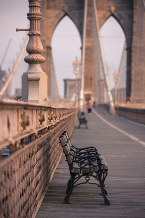 Brooklyn Bridge, New York, United States of America, North America Photographic Print by Amanda Hall