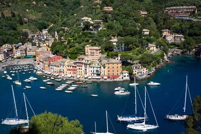 Aerial View, Portofino, Liguria, Italy, Europe Photographic Print by Peter Groenendijk