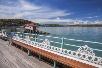 Mumbles Pier, Mumbles, Gower, Swansea, Wales, United Kingdom, Europe Photographic Print by Billy Stock