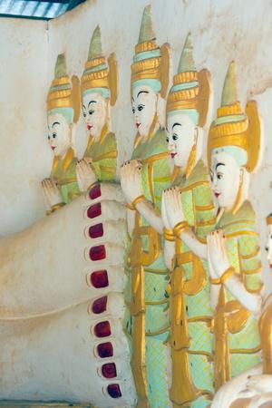 Temple Sculptures, Nget Pyaw Taw Pagoda, Pindaya, Myanmar (Burma), Asia Photographic Print by Christian Kober