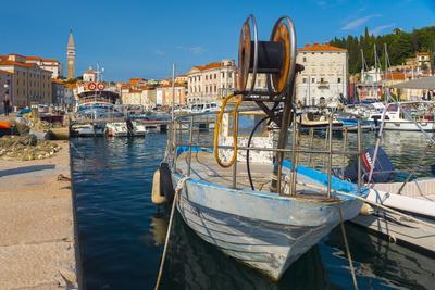 Old Town Harbour, Piran, Primorska, Slovenian Istria, Slovenia, Europe Photographic Print by Alan Copson