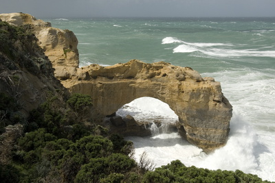 The Arch, in Limestone Cliff, Peterborough, Great Ocean Road, Victoria, Australia, Pacific Photographic Print by Tony Waltham
