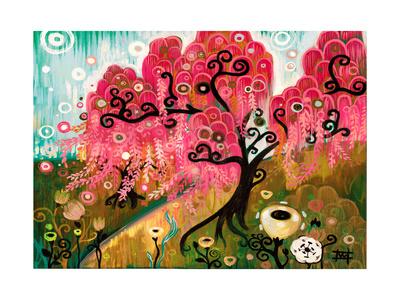 Cherry Blossom Willow Giclee Print by Natasha Wescoat
