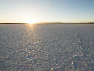 Sunset at the Laguna Salada, Salar De Atacama, El Norte Grande, Chile, South America Photographic Print by Ben Pipe