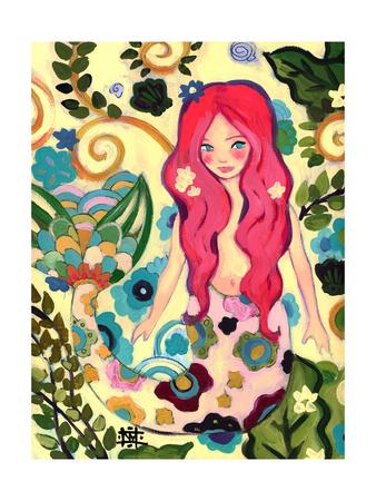 Spring Mermaid Giclee Print by Natasha Wescoat