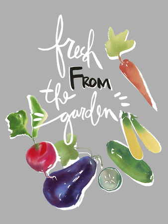 Fresh from the Garden Giclee Print by Kelly Ventura