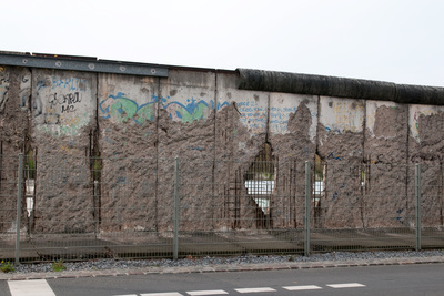The Remains of Berlin Wall in Berlin Photographic Print by  lexan
