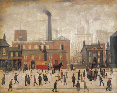 Coming Home From The Mill Giclée-tryk af Laurence Stephen Lowry