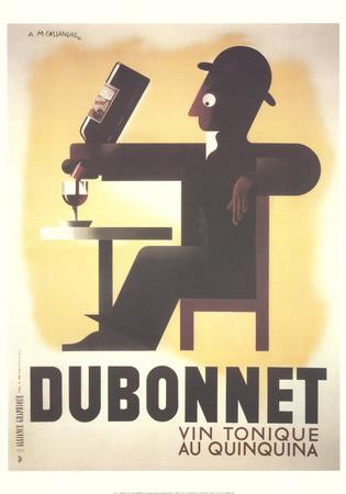 Dubonnet Collectable Print by Adolphe Mouron Cassandre