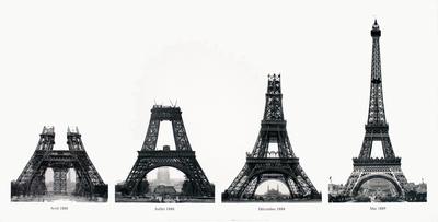 La Construction de la Tour Eiffel Collectable Print by Boyer Viollet