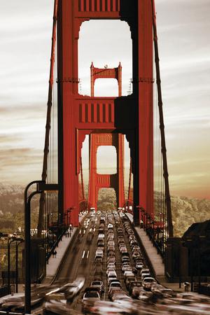SF Golden Gate Bridge Sepiatone Prints