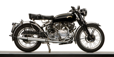 Close-Up of a 1954 Vincent 998Cc Series-C Rapide Motorcycle Photographic Print by  Panoramic Images