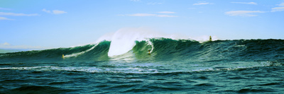Surfer Surfing in the Ocean, Oahu, Hawaii, USA Photographic Print by  Panoramic Images