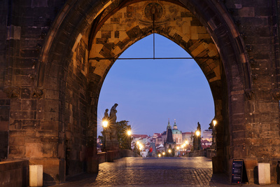 Old Town Bridge Tower, Prague, Czech Republic Photographic Print by Green Light Collection