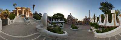 Park Guell, Barcelona, Catalonia, Spain Photographic Print by  Panoramic Images