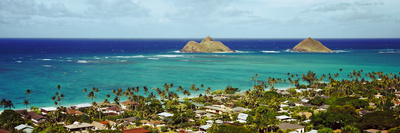 Rock Formations in the Pacific Ocean, Lanikai Beach, Oahu, Hawaii, USA Photographic Print by  Panoramic Images
