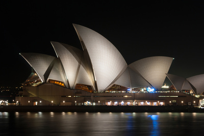 Sydney Opera House Lit Up at Night, Sydney, New South Wales, Australia Photographic Print by Green Light Collection