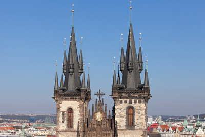 Tyn Church, Prague Old Town Square, Prague, Czech Republic Photographic Print by Green Light Collection