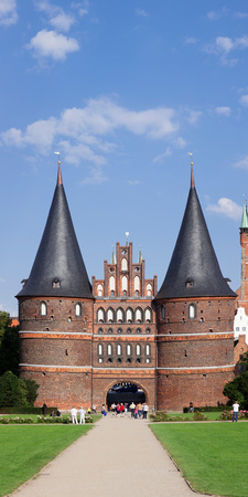 Holstentor Gate, Lubeck, Schleswig-Holstein, Germany Photographic Print by  Panoramic Images