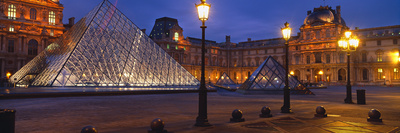 Pyramid at a Museum, Louvre Pyramid, Musee Du Louvre, Paris, France Photographic Print by  Panoramic Images