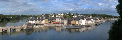 High Angle View of the Medieval Town at the Waterfront, St. Goustan, Auray, Gulf of Morbihan Photographic Print by  Panoramic Images