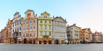 Colorful Houses on Old Town Square, Mala Strana, Prague, Bohemia, Czech Republic Photographic Print by  Panoramic Images