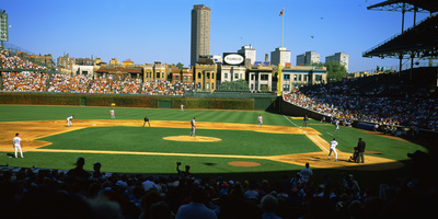Spectators in a Stadium, Wrigley Field, Chicago Cubs, Chicago, Cook County, Illinois, USA Photographic Print by  Panoramic Images