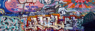 Graffiti on City Wall Photographic Print by  Panoramic Images