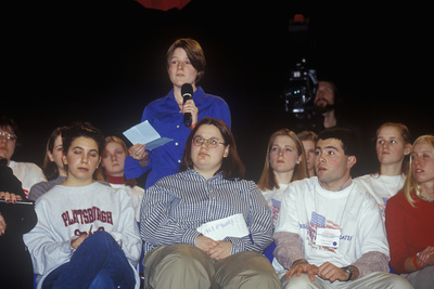 Students Address Speakers at the New Hampshire Presidential Candidates Youth Forum, January 2000 Photographic Print