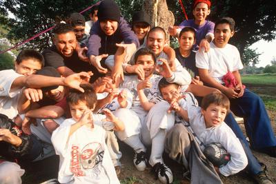Latino Children and Teenagers, Los Angeles, CA Photographic Print