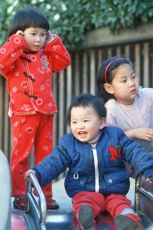 Chinese Children Celebrating the Chinese New Year, San Francisco, CA Photographic Print