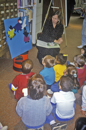 Group of Pre-Schoolers with Teacherat Storytime, Oyster School, Washington, DC Photographic Print