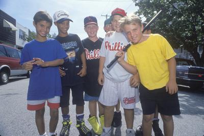 A Neighborhood Stickball Team, South Philadelphia, PA Photographic Print