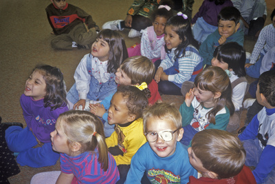 Group of Pre-Schoolers at Storytime, Oyster School, Washington, DC Photographic Print