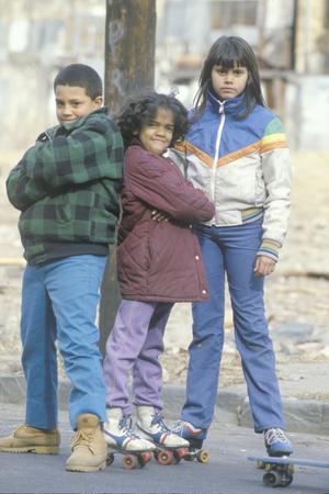 Three Inner City Children, Bronx, Ny City Photographic Print