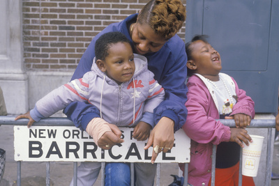 African-American Family at the Mardis Gras Parade, New Orleans, La Photographic Print
