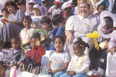 Preschool Children and their Teachers Watching a Performance, St. Louis, MO Photographic Print