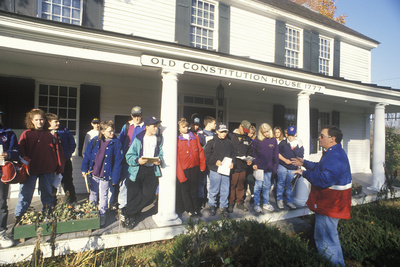Students on a Field Trip to the Old Constitution House, Windsor, VT Photographic Print