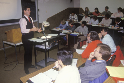 An Instructor Lecturing to and Adult Business Management Class, Toledo, Oh Photographic Print