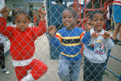 African-American Preschoolers in a Playground Photographic Print