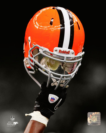 Cleveland Browns Helmet Spotlight Photo