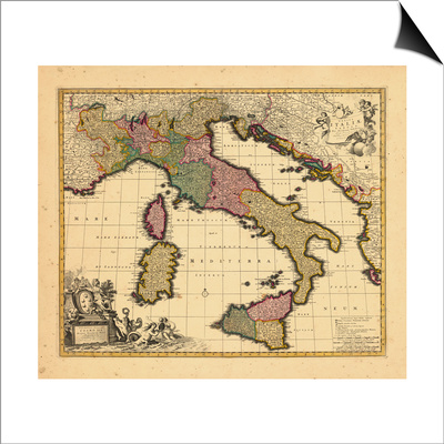 1698, Italy Posters