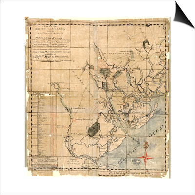 1771c, Beaufort County Savannah Sound to St, South Carolina, United States Print