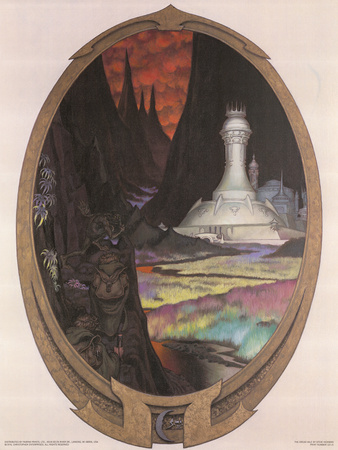 The Dread Vale (Gollum, Frodo and Sam) Art by Steve Hickman