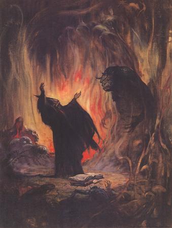 Sorceror (cover art for Eerie 2) Prints by Frank Frazetta
