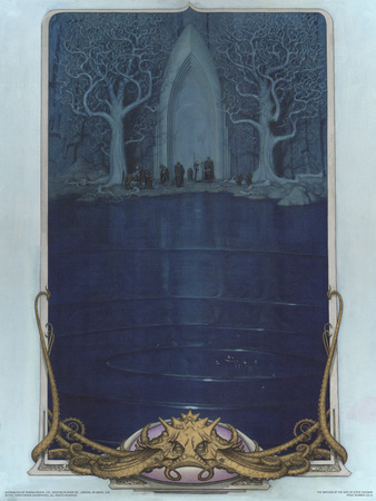 Watcher at the Gate (The Fellowship before the gate of Moria) Print by Steve Hickman