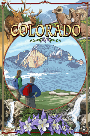 Colorado - Montage Prints by  Lantern Press