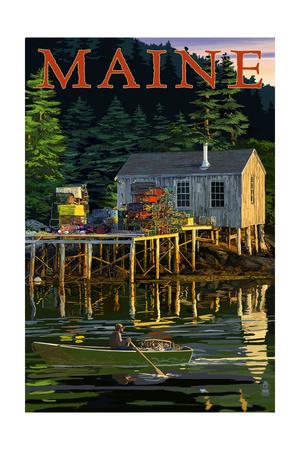 Maine - Lobster Shack Kunstdrucke von  Lantern Press