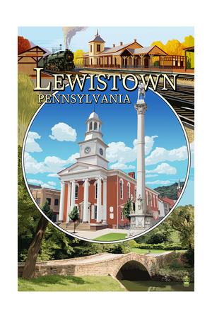Lewistown, Pennsylvania - Montage Scenes Posters by  Lantern Press