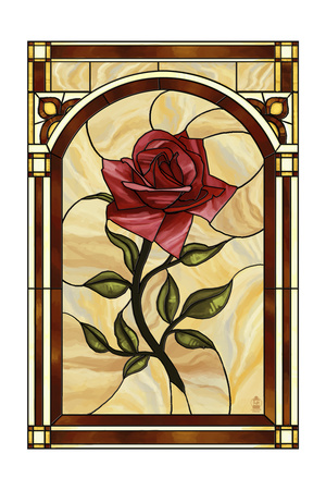 Rose Stained Glass Art by  Lantern Press